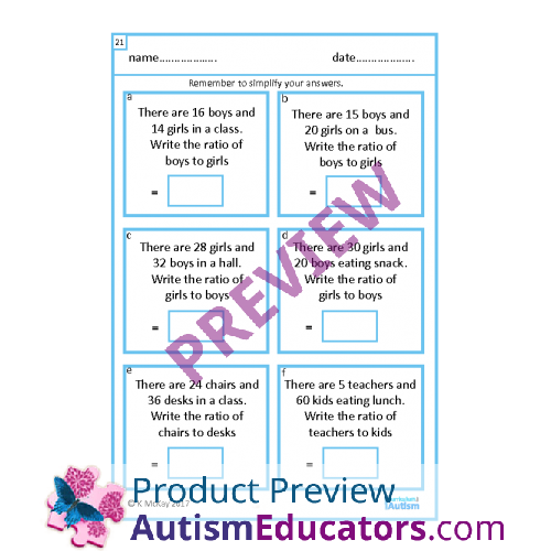 Simplifying Ratios Worksheet Worksheets for all | Download and ...