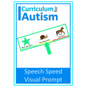 Speech Speed Visual Prompt Card