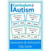 Synonyms & Antonyms Clip Cards