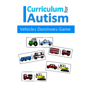 Transportation Dominoes Game, Turn Taking Skills