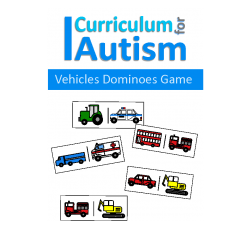 Vehicles Dominoes Game, Turn Taking Skills
