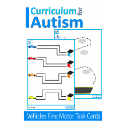 Vehicles Fine Motor Pre-Writing Skills Write & Wipe, Autism, Special Education