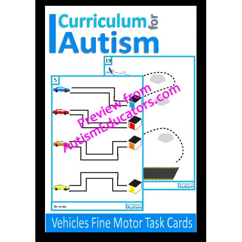Vehicles Fine Motor Pre Writing Skills Write Wipe