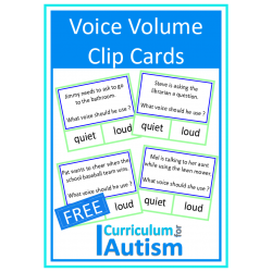 Voice Volume Loud or Quiet Clip Cards