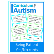 Being Patient Good Waiting Social Skills Clip cards