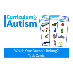 Which One Doesn't Belong? Write and Wipe Task Cards