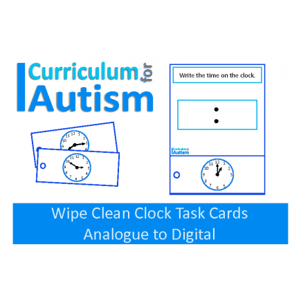Telling the Time Analogue to Digital Clock Task Cards