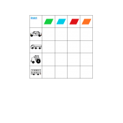 Vehicle Colors Vocabulary Sorting game