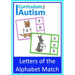 Letters of the Alphabet Match clip cards