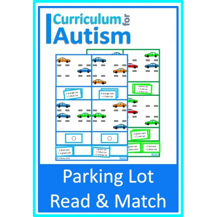 Read & Match Parking Lot Task Cards, Thinking Skills
