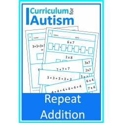 Repeat Addition  for Multiplication Worksheets & Cards