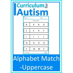 Uppercase Alphabet Match Worksheets
