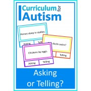 Reading Skills Asking or Telling, 80 Clip Cards