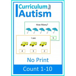 Count 1-10 NO PRINT Digital Activity