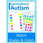 Match Shapes & Colors Visual Discrimination Write & Wipe