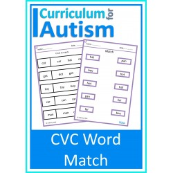 CVC Words Match Worksheets