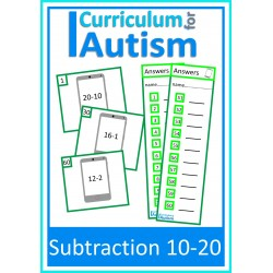 Subtraction 10-20 Task Cards