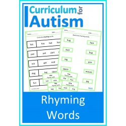 Rhyming Words Worksheets & Clip Cards