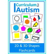 2D and 3D Shapes Flash Cards