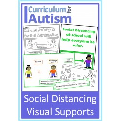 Social Distancing at School Visual Supports