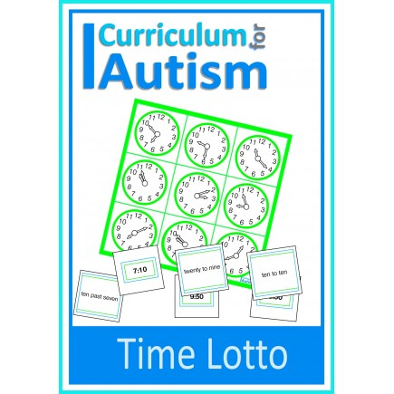 Telling the Time Math Lotto Game, Analogue and Digital clocks