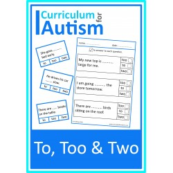To, Too or Two? Cards & Worksheets
