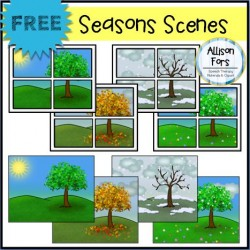 Seasons Scenes Clip Art