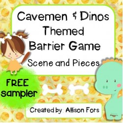 Cavemen & Dinos Themed Barrier Game