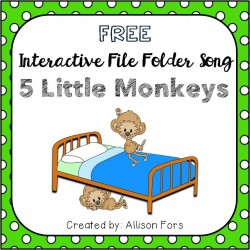 5 Little Monkeys Interactive Song