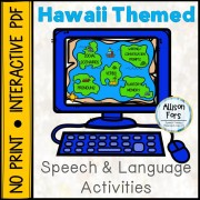 [NO PRINT] Hawaii Themed Speech & Language Activities