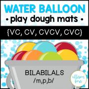 Bilabial Water Balloon Play Dough Mats