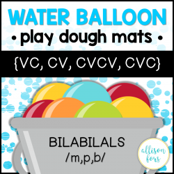 Apraxia Bilabial Water Balloon Play Dough Mats
