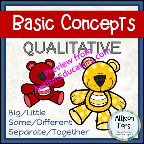 NO PREP] Qualitative Concepts Worksheets