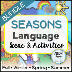 Seasons Language Scenes Bundle