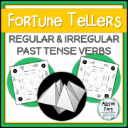 Regular and Irregular Past Tense Verbs Fortune Tellers