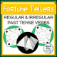 Regular and Irregular Past Tense Verbs Fortune Tellers
