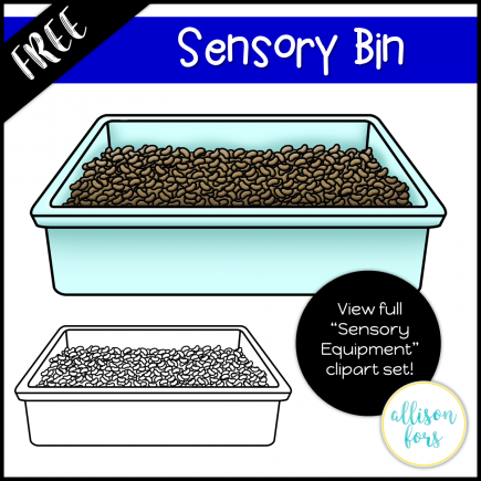 Sensory Bin Clip Art