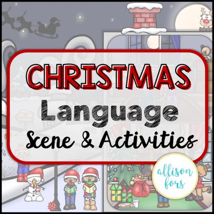 Christmas Language Scene Speech Therapy