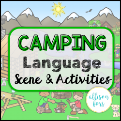 Camping Language Scene Speech Therapy