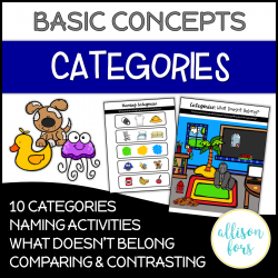 Categories Concepts Speech Therapy NO PREP