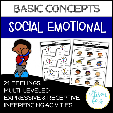Emotions Concepts Speech Therapy NO PREP