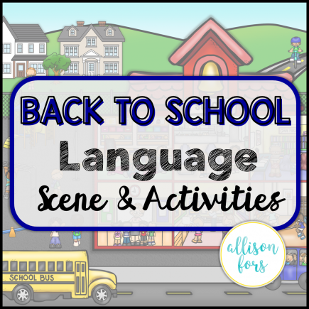 Back to School Speech Therapy Language Scene
