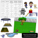 House Themed Barrier Games Speech Therapy