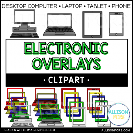Electronic Overlay Clip Art (computer, laptop, tablet, phone)