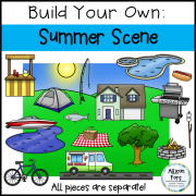 Build Your Own Summer Scene Clip Art
