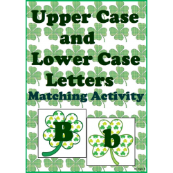 Upper Case & Lower Case Letter Matching Activity - Shamrocks