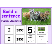Build a Sentence- Farm Animals