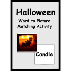 Halloween Word to Picture Matching Activity