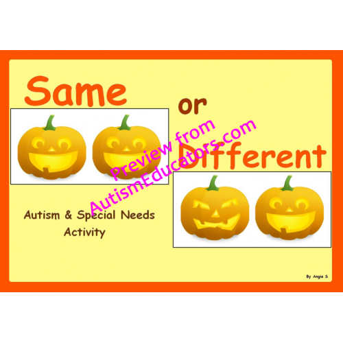 Halloween Printables: Same or Different - 3 Boys and a Dog