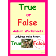 True or False- Autism Worksheets